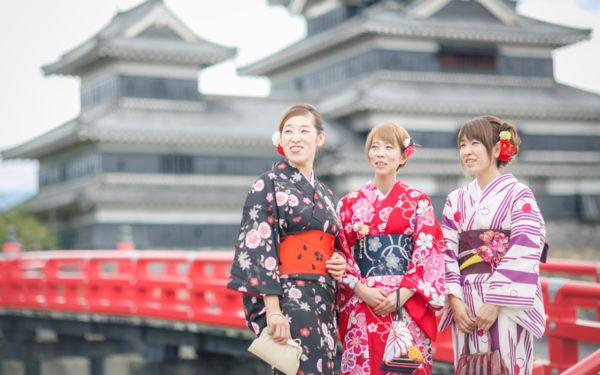 Kimono rental & dressing plan (woman)